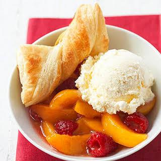 Stove-Top Peach-Raspberry Cobbler.