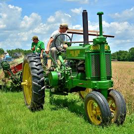 A Hard Days Work by Jarrod Unruh - Transportation Other ( wheat, field, farm, farmers, farmer, farmland, tractor, farming, fields,  )