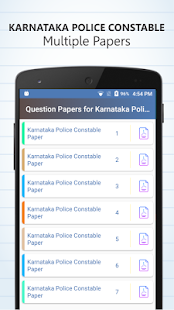 KARNATAKA POLICE CONSTABLE - Previous Papers - náhled