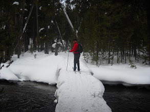 Photo: End of Spring Creek Crossing the Firehold River