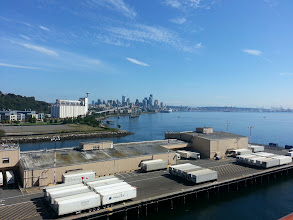 Photo: View of Seattle from pier 91 on board Golden Princess.