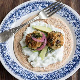 Kale and Black Bean Falafel