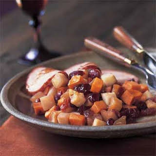 Roasted Turnips, Sweet Potatoes, Apples, and Dried Cranberries.