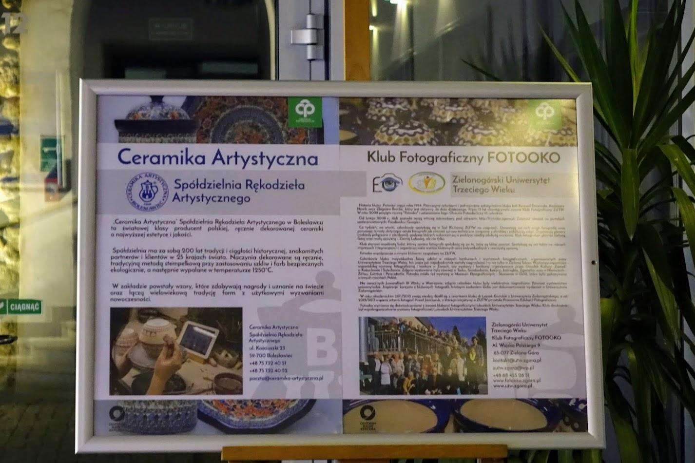 Wystawa słuchaczy UTW z Zielonej Góry w Bolesławcu