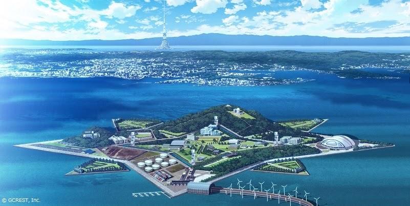 【画像】東京湾に浮かぶ星型人工島にある『星鳴学園』