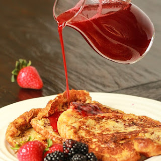 Croissant French Toast w/Berry Syrup