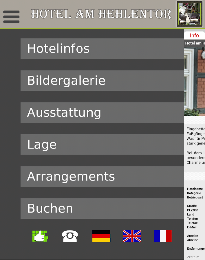 Hotel am Hehlentor- screenshot