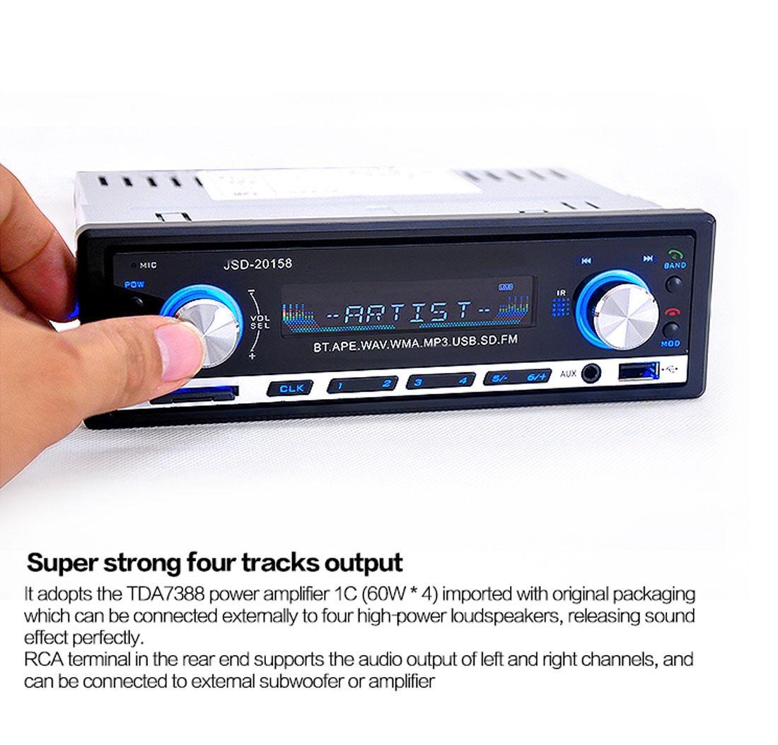 Autoradio Bluetooth Encastré Multifonctions Lecteur MP3 Radio FM entrée Aux Port SD & USB Kit Mains Libres www.avalonkef.com fg.jpg
