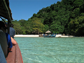 Photo: on the longtail boat headed for shore, Mu Koh Surin Nat'l Park