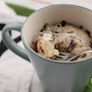 Chocolate Chip Mug Cake Made With Pancake Mix.