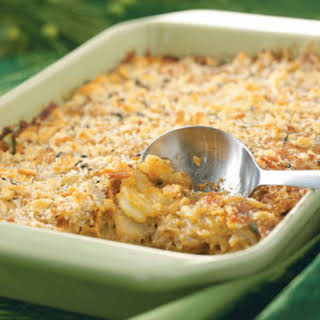 Crunchy Au Gratin Potatoes.
