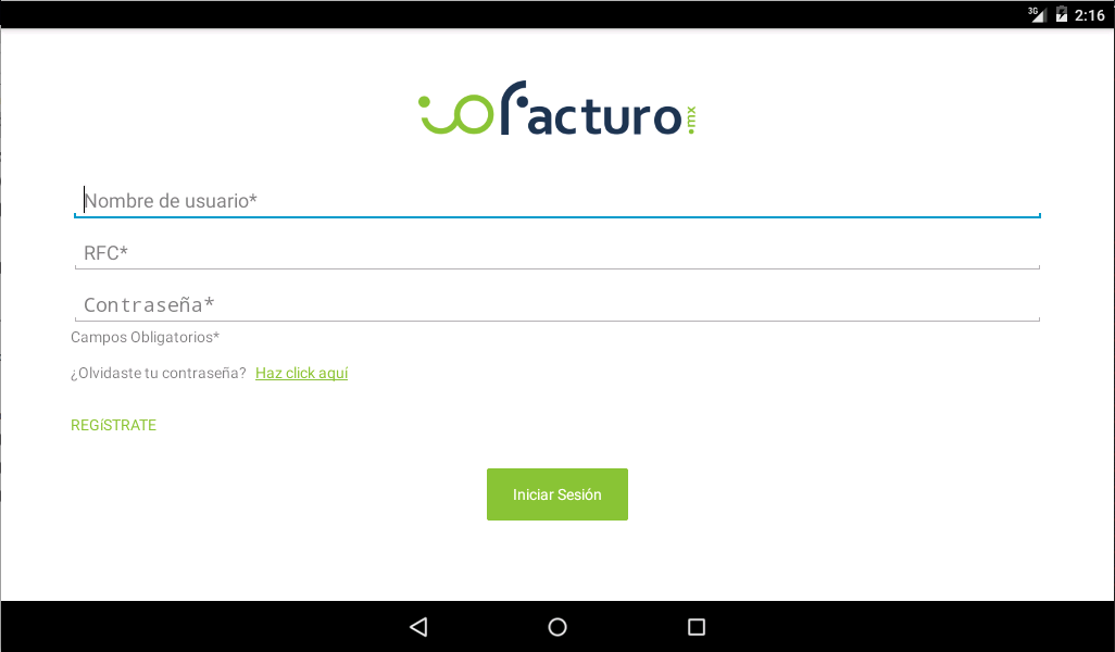 ioFacturo- screenshot