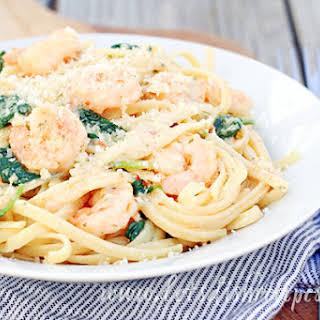 Easy Shrimp Scampi and Spinach Alfredo.
