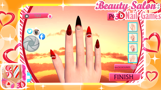 beauty salon 3d nail games android apps on google play