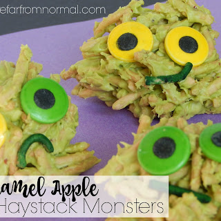 Caramel Apple Haystack Monster Cookies