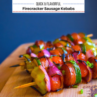 Quick and Flavorful Firecracker Sausage Kebabs.