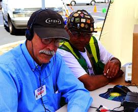 Photo: Joe (KC6ZZT) and Michael John (KF6YRG)  working CW.