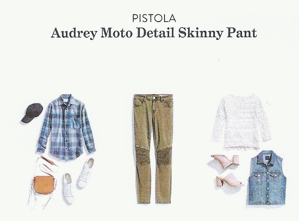Stitch Fix Winter 2018 box review, Pistola Audrey Moto Detail Skinny Pant