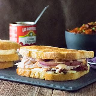 Sourdough Chipotle Turkey Panini with Bacon.