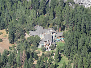 Photo: Looking down on the Ahwahnee