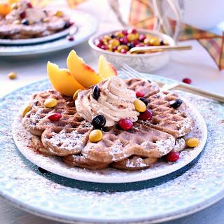 Decadent Harvest Dessert Waffles