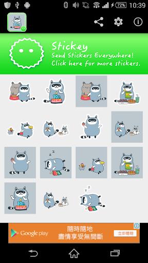 Stickey Cute Little Raccoon