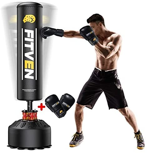 FITVEN Freestanding Punching Bag - Best Free Standing Punching Bag