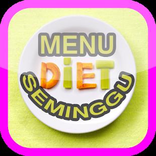 Menu Diet Satu Minggu - náhled