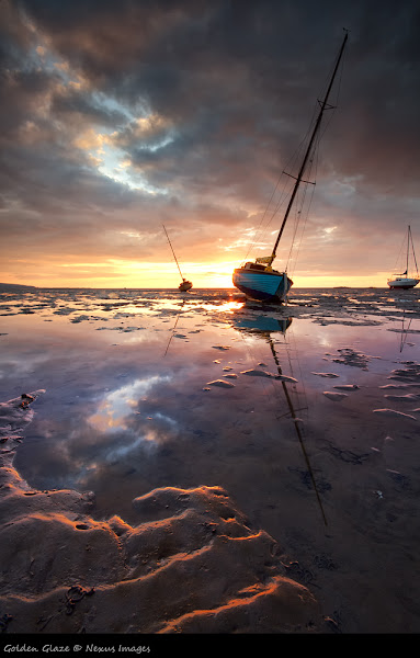 Photo: One of the boats moored at West Kirby on Wirral at Sunset.