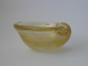 Photo: Seguso gold aventurine shell