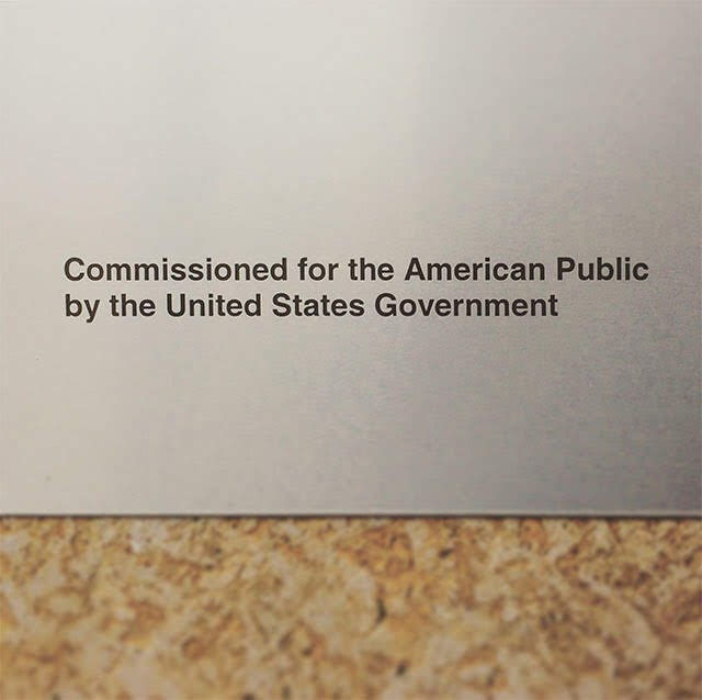 Commissioned for the American people by the United States government