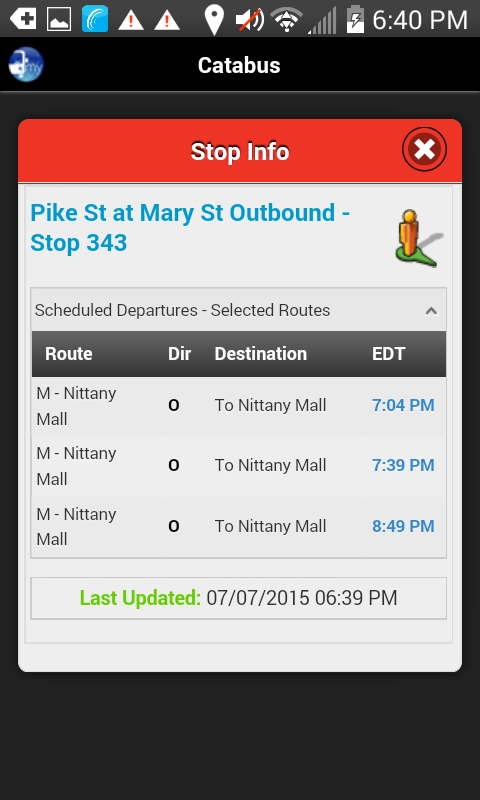 myStop® Mobile- screenshot