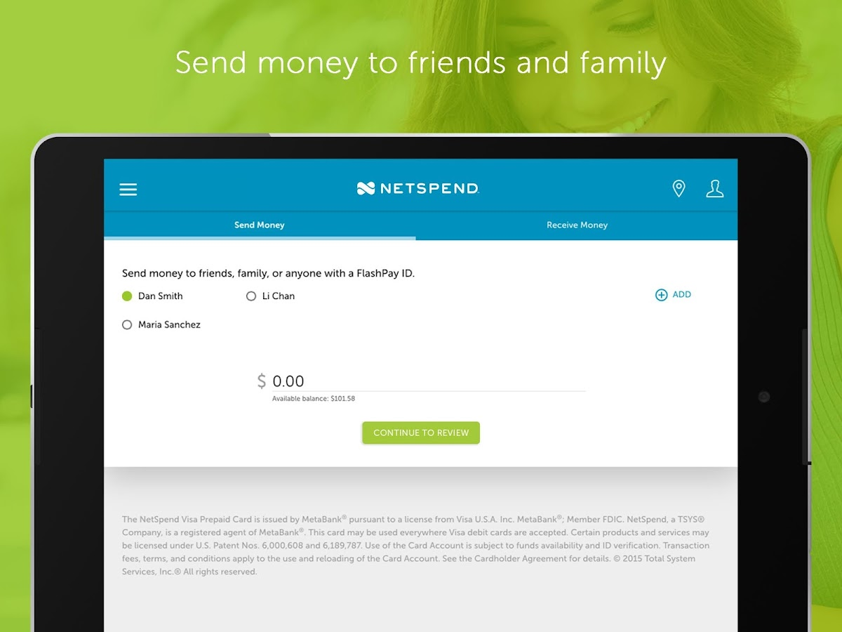 NetSpend Prepaid Banking- screenshot