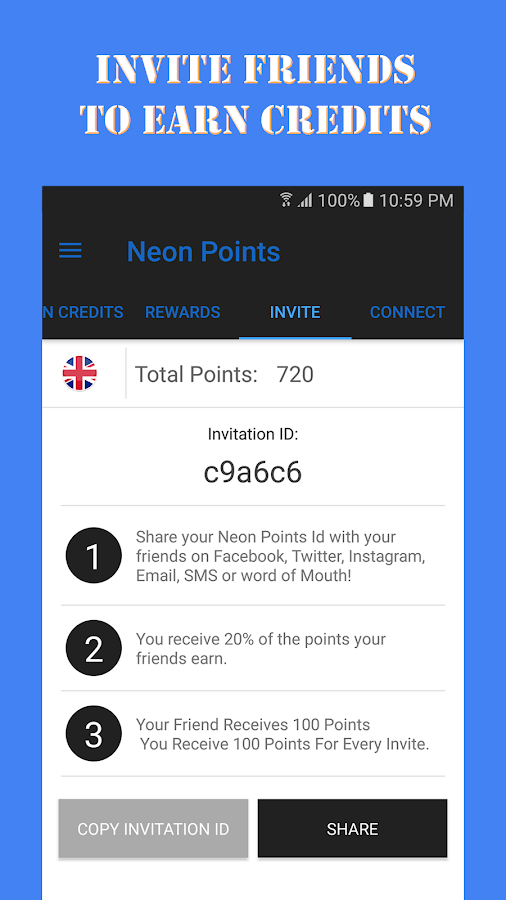 Neon Points - Free Gift Card- screenshot