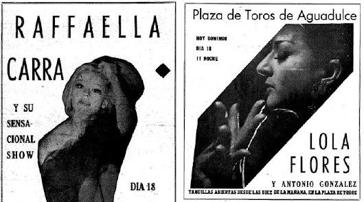 Duelo en Almería: el día que Raffaela Carrá compitió con Lola Flores