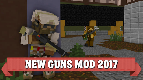 Guns mod for Minecraft pe 2017 - náhled