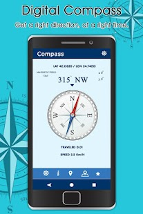 Compass For Android : Compass Map - náhled