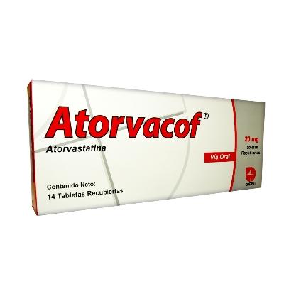 Atorvastatina Atorvacof 20 mg x 14 Tabletas. Cofasa 20 mg x 14 Tabletas