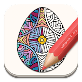 Free Adult Coloring: Easter