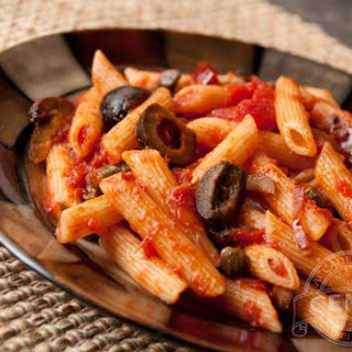 Penne Rigate with Olives & Capers