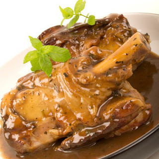 Savoury, Braised Lamb Shanks