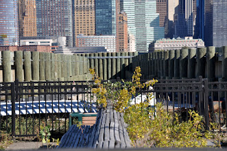 Photo: Looking over the old immigrant waiting room benches toward Manhattan