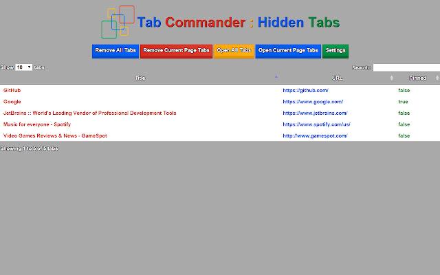 Tab Commander