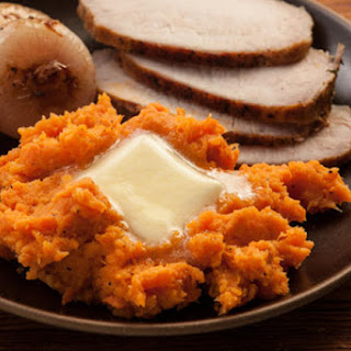 Mashed Sweet Potatoes with Ginger, Cardamom, and Honey