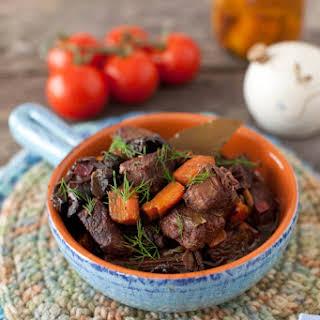Wild Mushroom Beef Stew.