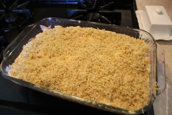 Layer over the top of your casserole.
