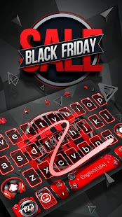 Black Friday Keyboard Theme - náhled