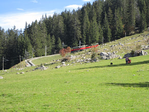 Photo: Cog Wheel Train heading up higher elevations and more towns