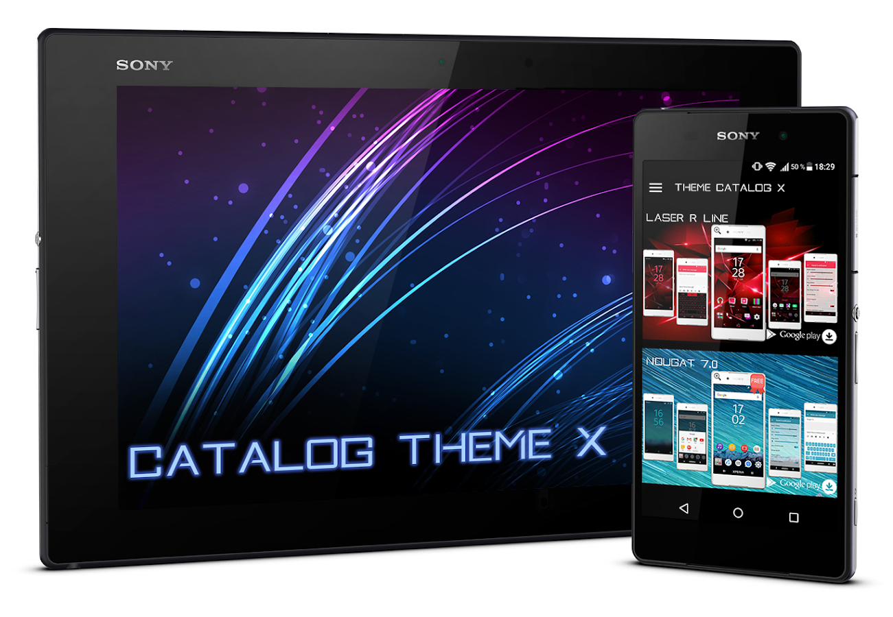 Themes in google play - Theme Catalog X Xperia Theme Screenshot