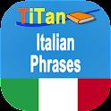 Italian conversation phrases icon